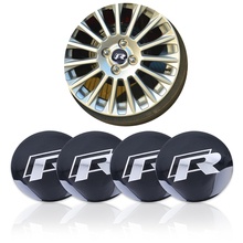Buy 4Pcs/lot 56.5mm Metal R Logo Wheel Center Hub Caps Emblem Badge VW Volkswagen Golf Car Badge Decal Car Decoration Sticker for $2.40 in AliExpress store