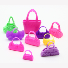 10pcs Cute Mini Bags for Barbie Dolls Accessories Mix Bag Shaped Kids Toys Lovely Kids Gift Parts for Doll