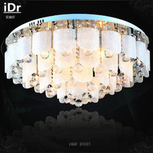 Romantic heart-shaped modern crystal lamps bedroom modern high quality led ceiling lights living room remote control(China)