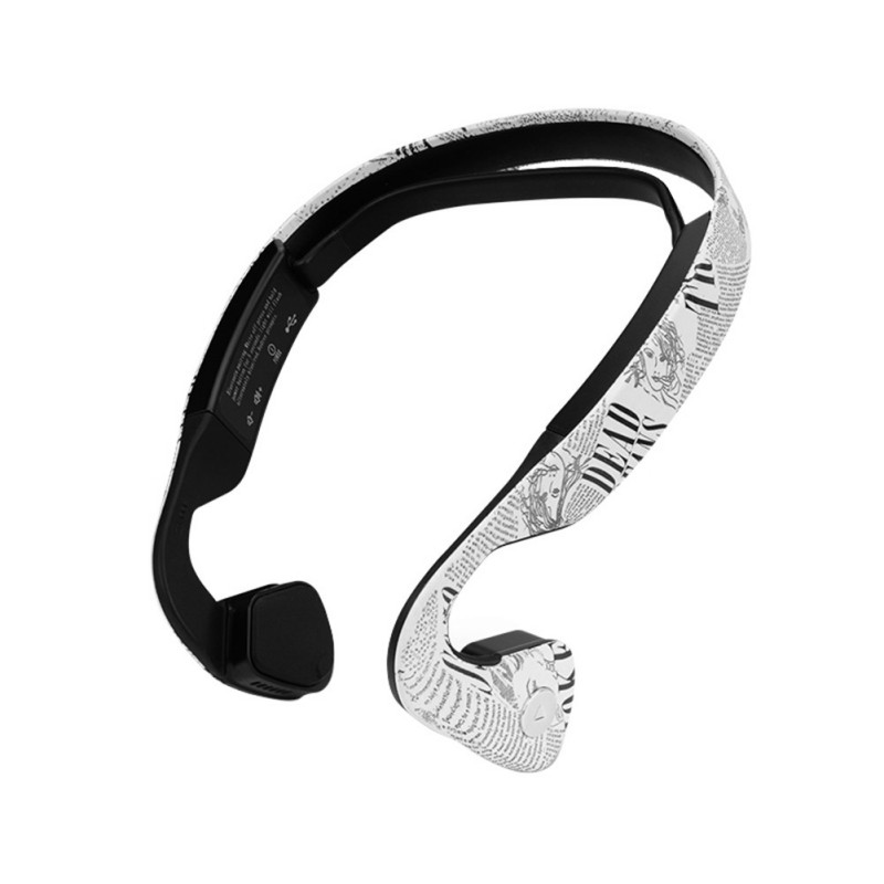Wireless Bluetooth Stereo Printed Bone Conduction Headset Earphone With Mic Sport Running Driving Headphone For Phone<br><br>Aliexpress