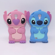 Cute 3D Cartoon Stitch Silicone Case Phone Cover For Samsung Galaxy S3 Neo Duos i9300i Galaxy S4 i9500 i9505 S5 Neo G903F G903W(China)