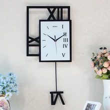 Fashion wall clock swing clock modern decoration clocks pocket watch personalized electronic clock