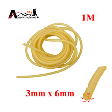 1m Natural Latex Slingshots Rubber Tube 3x6mm Bow Rubber Resistance Band Hunting Slingshot Catapult Elastic Part Fitness Bungee