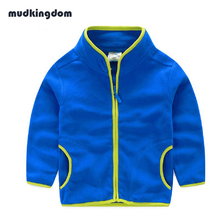 Mudkingdom Kids Spring Coats Children Candy Color Outerwear Long-sleeve Solid Fashion Jacket Boys Girls Fleece Soft Kids Clothes