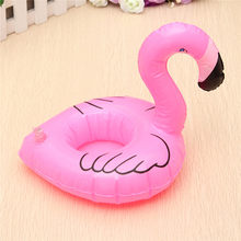 1pc Flamingo Drink Can Holder Floating Inflatable for Cola Cup/Cell Phone/Remote Controller Summer Pool Beach Swim Kid Float Toy