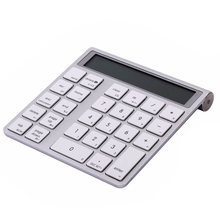 1pcs function 2 in 1 Ultra-thin Bluetooth Numeric Keyboard Bluetooth 3.0 Calculator for Laptop Desktop PC Notebook