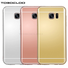 TOBOCLOO Mirror Make Up TPU Case For Samsung Galaxy J3 J5 J7 2017 J2 Prime A3 A5 A7 2016 S6 S7 edge S8 Plus Soft Silicon Cover(China)