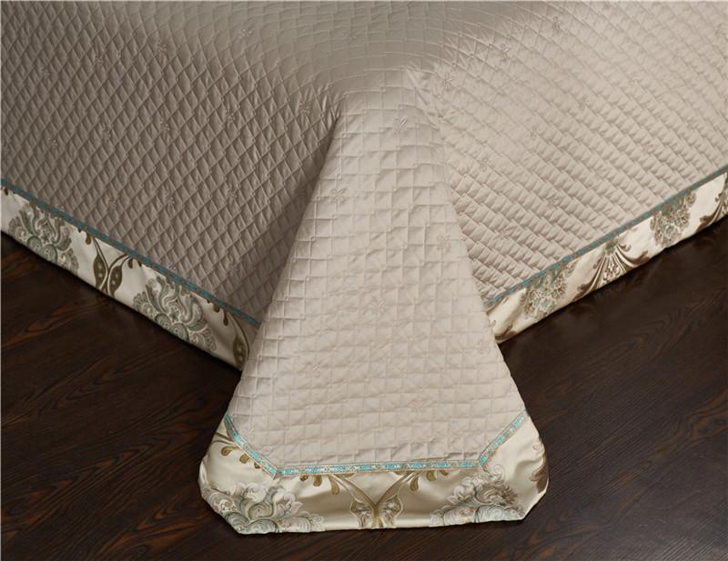 Luxury Bedding Set, Silk Satin Jacquard Bedding Set, Queen, King, Duvet Cover,Bed Linen Flat Sheet Set 23