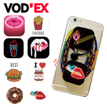 Food Fruits Pizza Paper Pineapples Donuts POP Phone Holder Air Fleixable Expanding Stand Grip