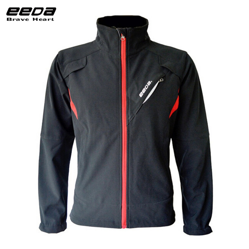 EEDA Men Sports Waterproof Windproof Reflective Breathable Bike Bicycle Jersey Winter Fleece Thermal Cycling Wind Coat Jacket<br>