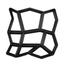 Irregular 9 Grids Garden Path Maker Mold Paving Cement Brick Paving Stone Mould Courtyard Ornament Stone Road Tool(China)