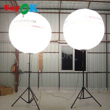 Popular outdoor advertising tripod inflatable balloon with stand pole inflatable stand balloon with 9W white led lights