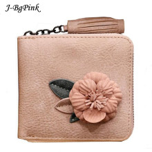 PINK Luxury brand Genuine Leather Women Wallet Female Lady Small Walet Portomonee For Girls Mini Pocket Perse Holder Coin Purse(China)