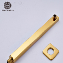 Free Shipping Wall Mounted Brass Golden Shower Arm G1/2 Fixed Pole/Holder for Showerhead(China)