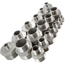 "1 PC New 1/2""x1/4"" Male Hex Nipple Threaded Reducer Pipe Fitting Stainless Steel 304 NPT SA534 P50(China)"