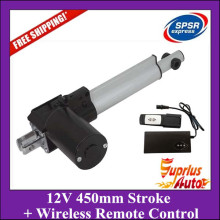 12V DC 450mm Stroke 6000N Load And 5mm/s Speed Linear Actuator With Wireless Remote Controls