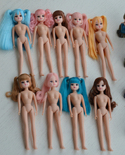 Free shipping cost nude dolls cheap licca bjd doll cosmetic diy refit 23CM high gift ,hot sales licca for girls 16101403