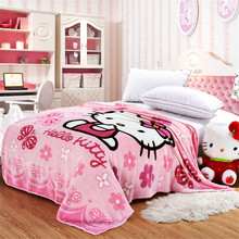 Hello Kitty couverture polaire 150*200cm anime blanket for kids Coral Fleece Blanket on Bed mantas Air Condition Sleep Cover