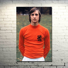 Johan Cruyff Football Legend Art Silk Poster 13x20 inch Netherlands Soccer Star Pictures for Living Room Decor 008(China)