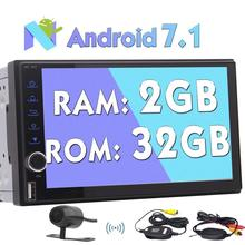 Android Car Radio Stereo Automotive 7.1 Stereo touch screen Auto Radio Support Wifi 4G/3G GPS Navigation Bluetooth+Reverse Came(China)