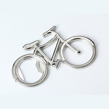 New Bicycle keychain creative Wine Beer can Opener novelty bottle openers coca cola faca chaveiro abridor de cerveja corkscrew(China)