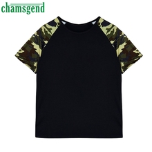 CHAMSGEND Good Deal Heart Soul Fashion Women Short Sleeve Summer Casual Camouflage Tops T Shirt  1PC_U00442