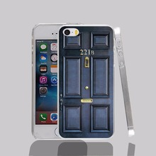 13360 Old sherlock holmes 221b door transparent Cover cell phone Case for iPhone 4 4S 5 5S 5C 6 6S Plus 6SPlus