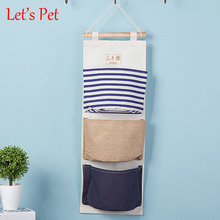 Let's Pet Special offer Wall Mounted 3 pocket Storage Bags bathroom kitchen supplies Fluid Systems Multilayer Pouch Storage Bags