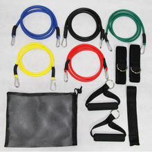Factory Direct Sales Free Shipping 12Pcs/Lot 12 Peices a Pack Soft Expander Set Latex Resistance Bands Exercise Training Rope(China)
