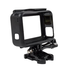 For GoPro 5 Accessories Protective Frame Case Standard Open Shell Protector + Lone Screw + Base Mount for Go Pro Hero 5 Black(China)