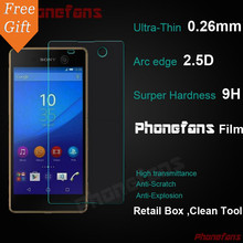 For Sony Xperia M5 E5603 E5606 M5 Dual E5633 With Retail Box HD Tempered Glass Screen Protector Protective Film For Sony M5