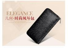 special offer genuine leather women wallets long zipper fashion trend purse second floor cow leather money bag