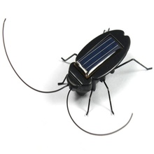 HOT Solar Power Energy Black Cockroach Bug Toy Children ducational gadget Toy for children great