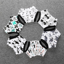 Ins Fashion Hot New Panda Bear Batman Cartoon Newborn Infant Baby Bos Girls Bloomers Diapers Covers Shorts Pants Clothes(China)