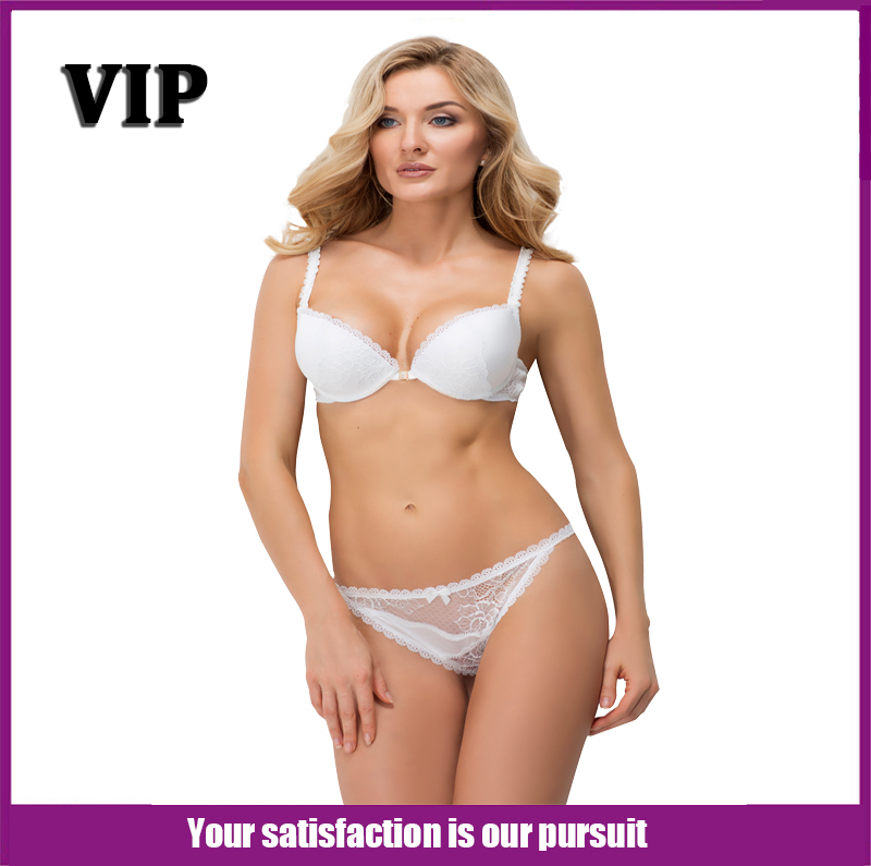 Women Bra and Thong 2 Colors 3/4 Cup Push Up Brass...