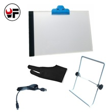 YOFE USB A4 LED Tracing Board Slim Drawing Copy Light Box Art Craft Hand Drawing Tools + Stand Holder LA053