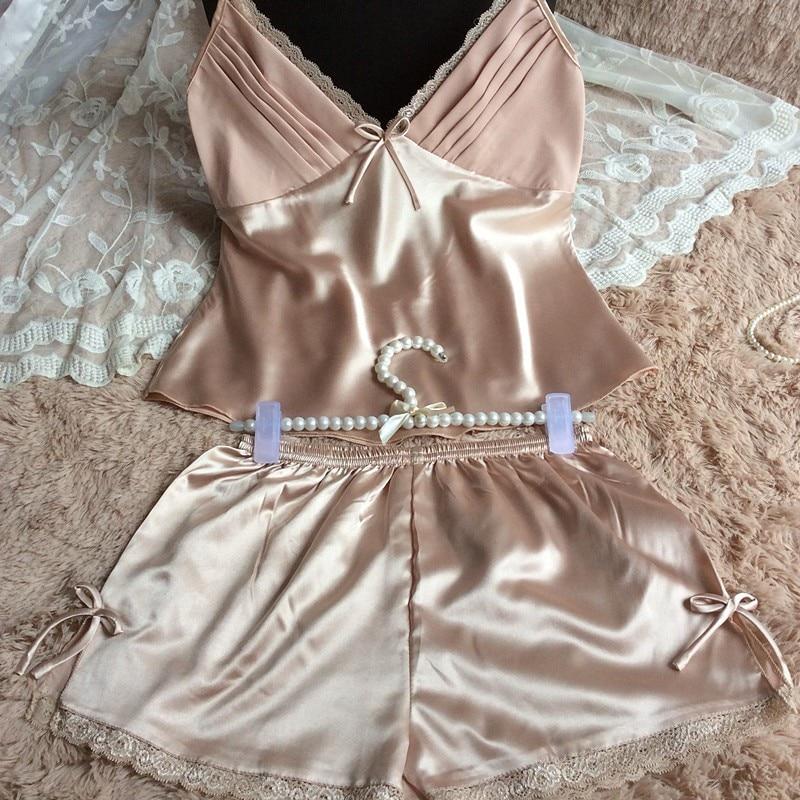 women silk pajamas set (8)