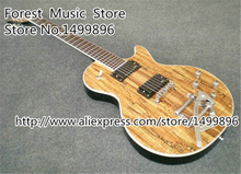 Nature Wood Top Mother Leed LP Standard Model Electric Guitars China EMG Style Pickup For Sale