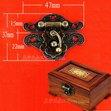 30pcs/lot Hardware accessories Buckles wooden box Hasp lock Retro Jewelry boxes Latch Boxes lock Locking buckle 47*37mm Freeship