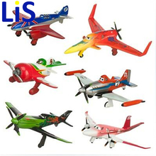 Lis 6pcs/set pixar planes dusty planes 2 ishani skipper Ripslinger airplane plane model gifts doll classic toys for children