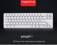 Magicforce Smart 68 Keys Non- Backlit Antighosting USB Mechanical Gaming Keyboard Aluminium Alloy Kailh Blue/Black Switches