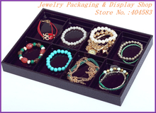 Black 8 slots unique jewelry organizers for bracelet earrings necklace store displays