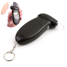 Digital Alcohol Breath Tester With Keychain LCD Display Professional Breathalyzer Analyzer Detector Test HS11(China)
