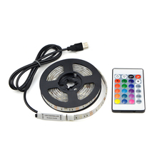 LED light 5050 SMD RGB USB cable charger 5V LED Strip light 1m 2m IP20 / IP65 waterproof remote control for home Lighting lamp