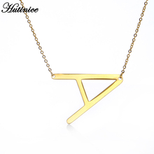 Simple Design 26 Letters Pendant Necklace for Women Charm Jewelry A B C D E F G H I J