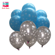 10pcs/lot 12inch Globos Christmas snowflake Latex Balloons Inflatable toys Wedding balloons Christmas Decorations Party Supplies(China)