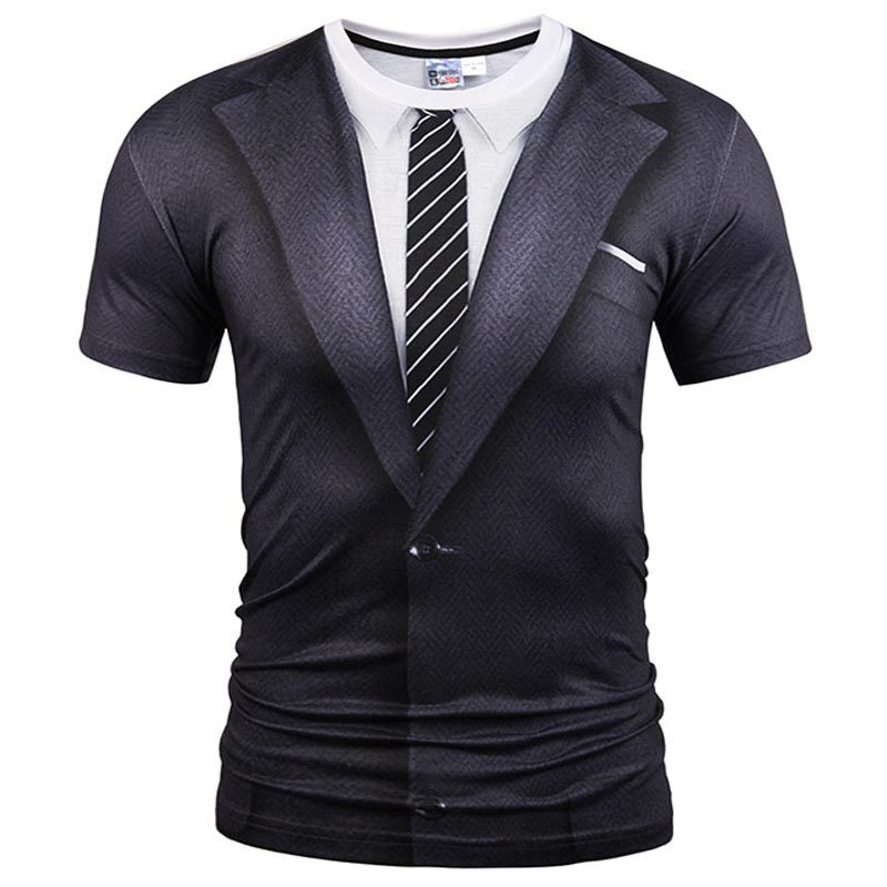 HTB1tayDRXXXXXXYaXXXq6xXFXXXH - Mr.1991INC Brand Summer O Neck T-shirt Fashion Fake Two Pieces Suit Style 3D Printing Tops Tees Men Short Sleeves Funny T Shirts