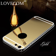 LOVECOM New Mirror Phone Case For iPhone 5 5S SE Aluminum Acrylic Soft TPU Protective Back Cover Coque Wholesale