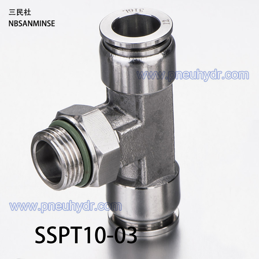 5Pcs/lot SSPT10-03 SS316L Fittings Outside Diameter 10 Thread Size 03 Pneumatic Pipe fitting Stainless steel fitting Sanmin<br><br>Aliexpress