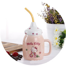 1set Creative Cute Bottle Ceramic Cup Milk Juice Mug Coffee Tea Cup Home Office Drinkware Gift Cup Leisure Bar Supplies 5ZDZ120(China)
